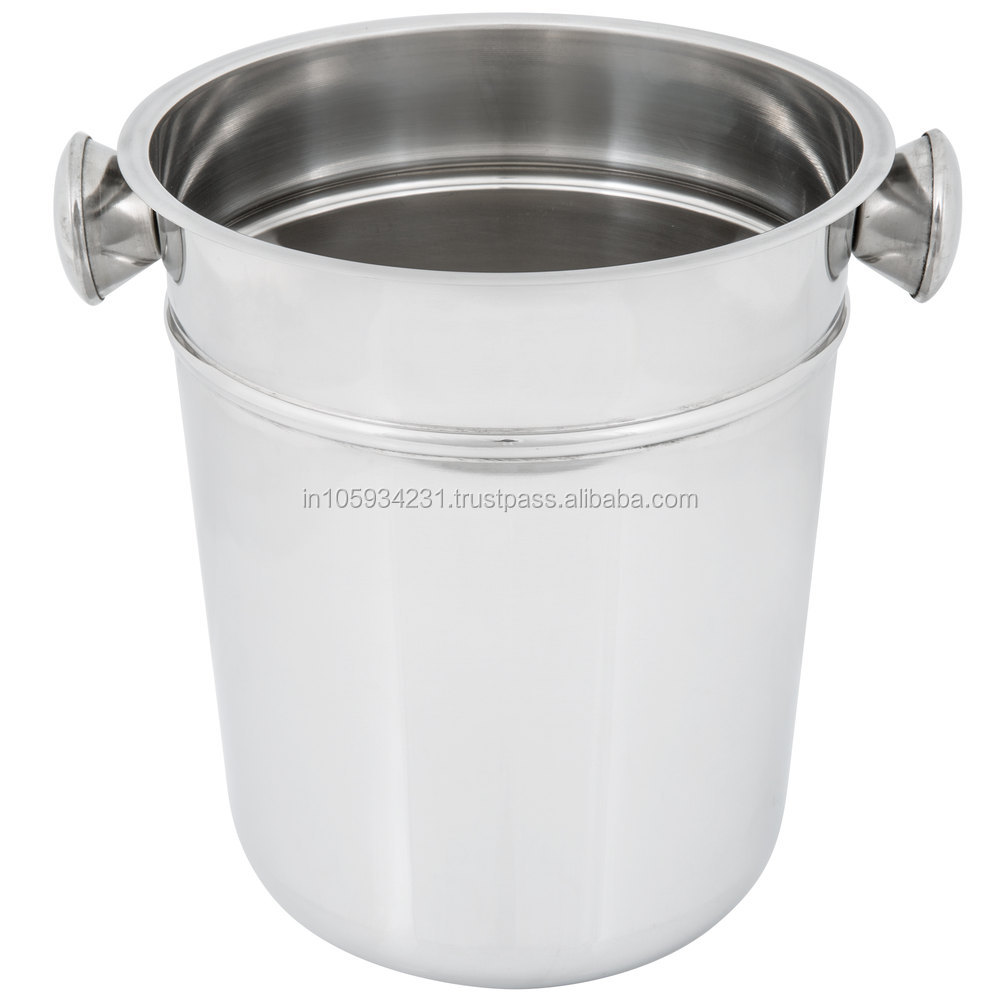 Stainless steel Champagne Wine Chilling Buckets with round knoobs