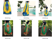 retro HIPPIE BOHO Dashiki african ethic print art music festival cotton maxi skirts