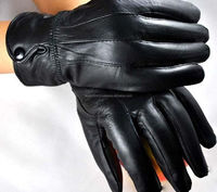 Fashion Winter Faux Sheepskin Leather Gloves Men Women Bike MotorCycling
