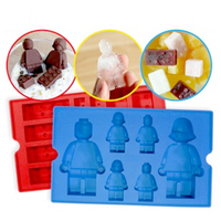 Block Silicone Figure Ice Tray