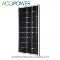 ACOPOWER 150w Mono Photovoltaic PV Solar Panel Module with MC4 Connectors 24v Battery Charging