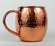 Moscow Mule Solid Hammered Copper Mugs No Inner Lining - 16 Oz..