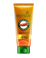 Biotique Bio carrot Face & Body Sun Lotion SPF 25+Sunscreen For all skin Types in the sun, 50 ml