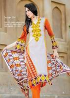Three piece lawn salwar kameez suit Barkha lawn design no. 794/pakistan lawn suit