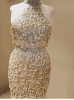 Golden Fringe Hand Embellished Mini Party Wear Home Coming Dress/Cocktail Dress/Evening Dress