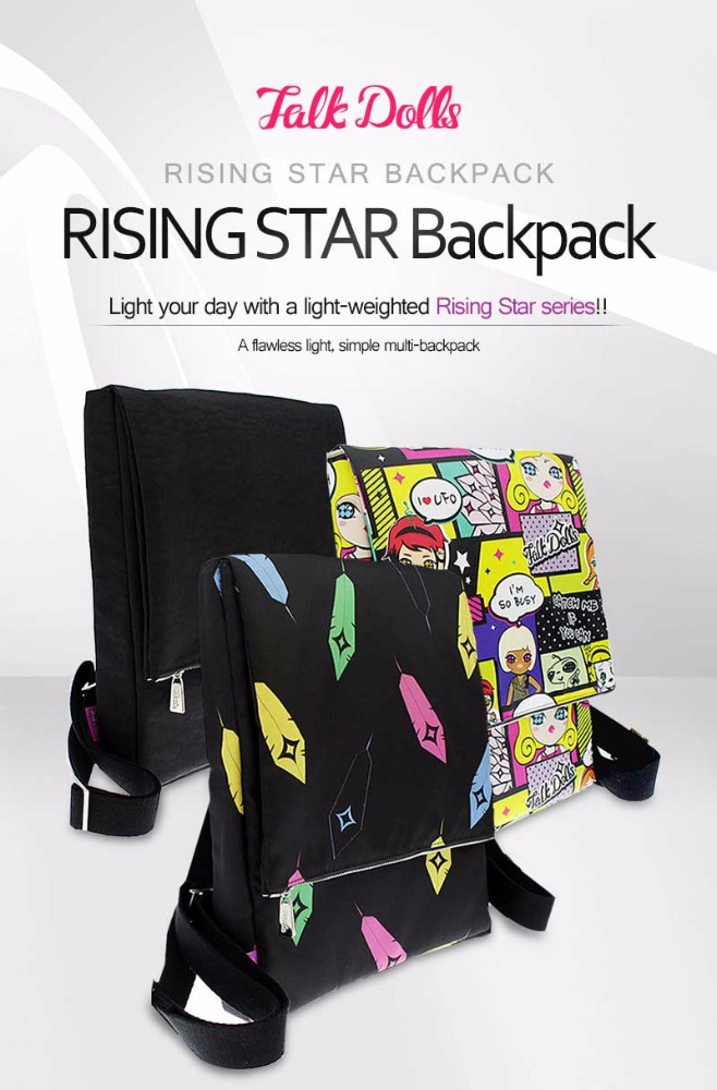 Rising Star Backpack School Bag Laptop-Fixable Light-Weighted Convenient Practical Waterproof