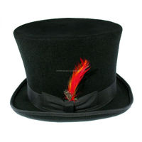 Victorian top Hat 100% wool Black for mens