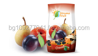 Mix of dried fruits - pears , prunes and apples