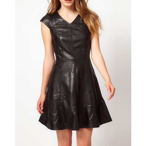 high quality leather dress /leather hot wear/stylish leather women wearing
