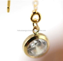 14K gold filled thread chain earrings parts for making accessory