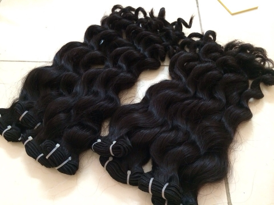 Remy hair cut from human very sleek and silk