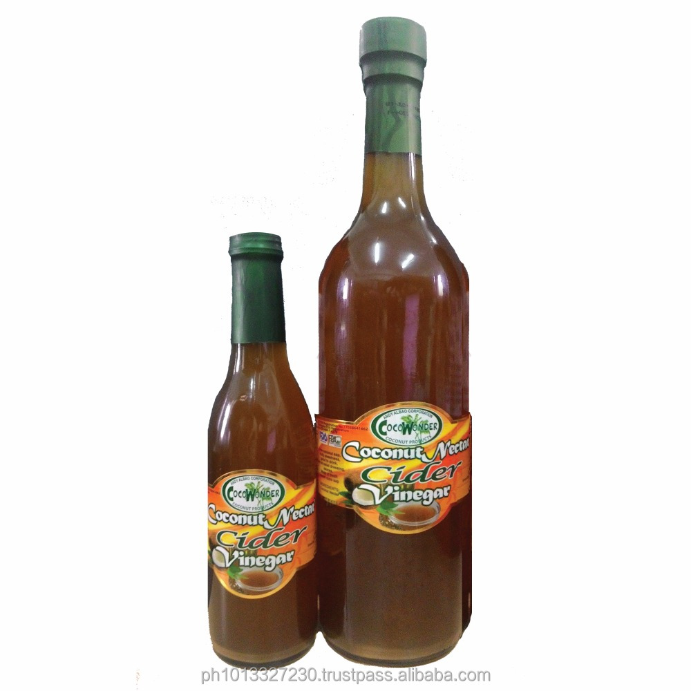 100% Natural COCONUT CIDER VINEGAR - Certified Organic bu USDA-NOP & EU