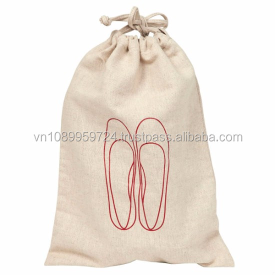 Hot selling Organic cotton tote bags wholesale/ Jute Bag With Long Handle