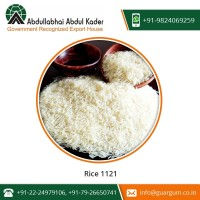 Natural Taste Export Quality 1121 Basmati Rice Available for Sale