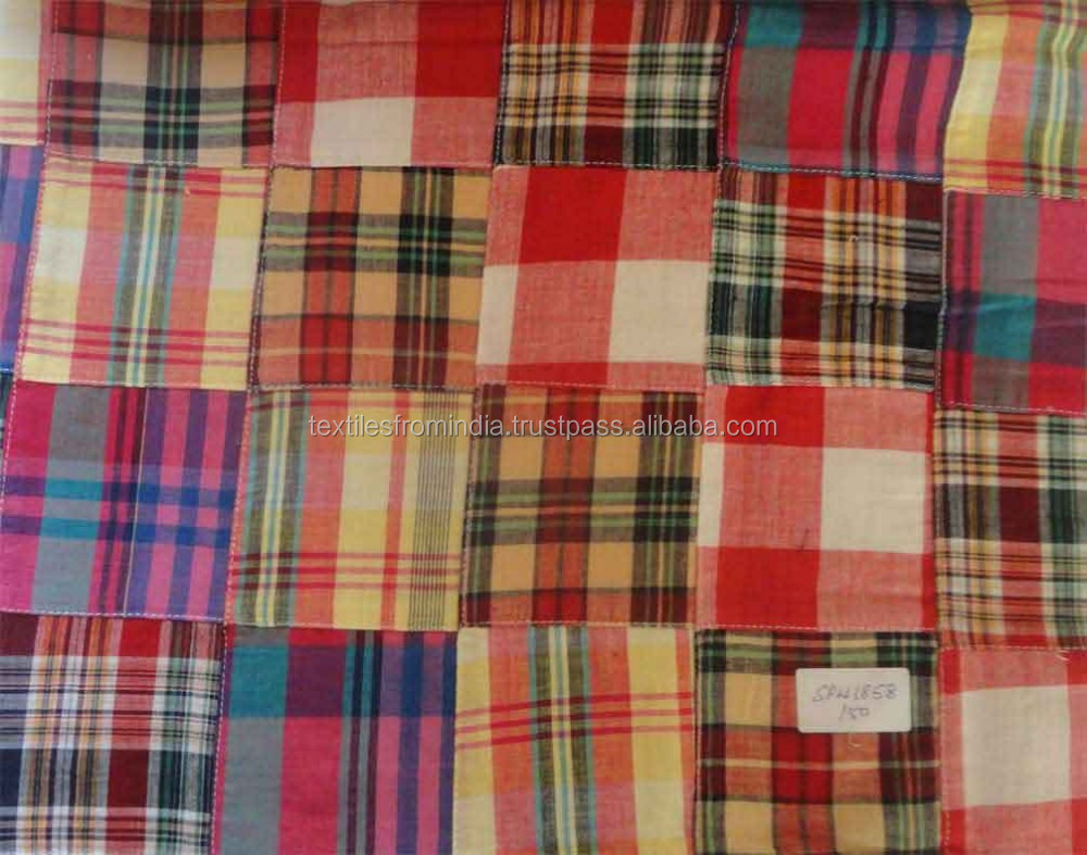 Madras Cotton Patchwork Fabric Importers