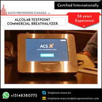Sleek Tablet Style No Coin Needed Alcolab Testpoint Commercial Breathalyzer