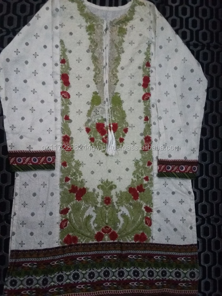 latest female kurti with elegant design and beautiful border