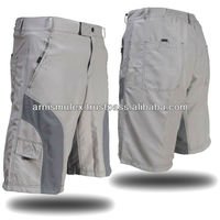 Men Mountain Bike Cycling Baggy Shorts in Grey with optional padded undershorts