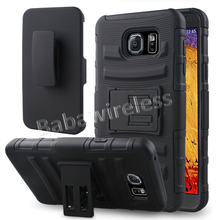 Hybrid Armor 3 In 1 Holster Combo Case For Samsung Galaxy NOTE 5