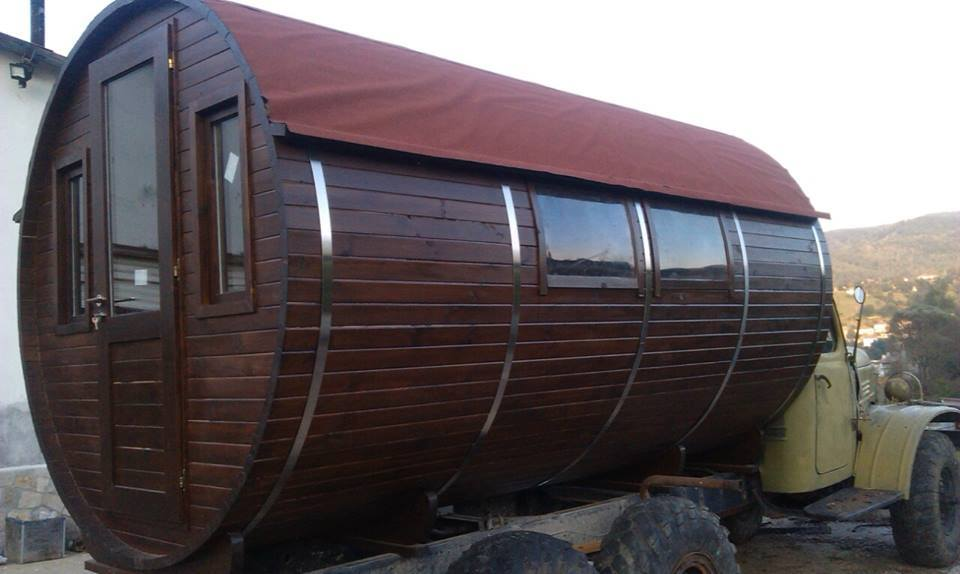 Unique wooden home, caravan