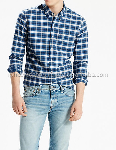 New Look Men's Long Sleeve Check Long Sleeve Casual Shirt