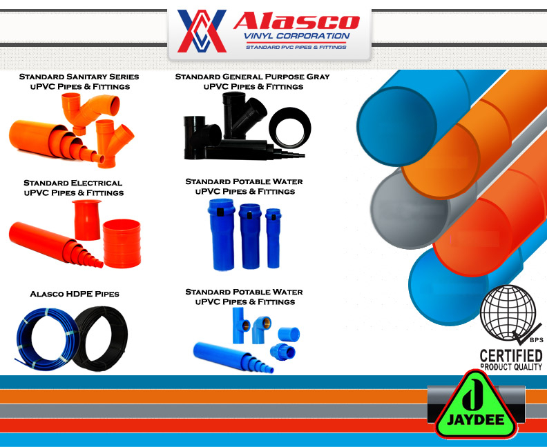 """ALASCO"" STANDARD PVC PIPES & FITTINGS"