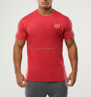Cotton/polyester dry fit Soft feeling Men Training gym fitted t shirt