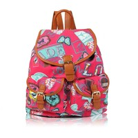 Vintage Fashion Rucksack Laptop Backpack Daypack For School Campus Travel Canvas Rucksack