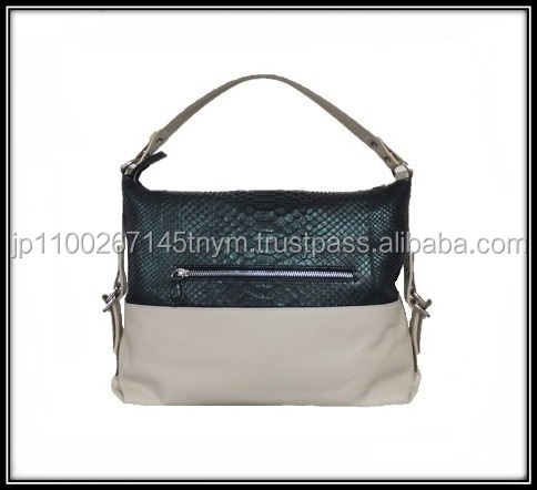 High quality and various materials of ladies bags made in china with two way handles