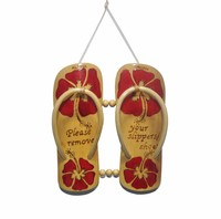 Hawaiian Bamboo Double Slipper with Painting Design