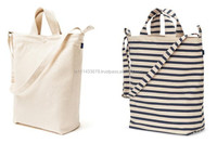 Bull Denim Woven Cotton Cities Bag with Strap/ Tote bag / Hand bag
