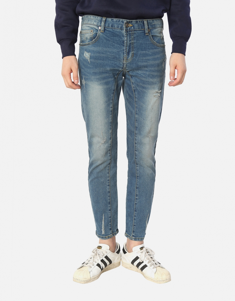 Light Washing Ankle Jeans