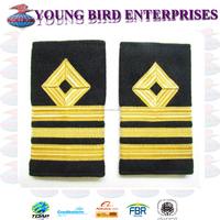 EPAULETTE NAVAL LT COMMANDER RANK MARKING V CURL | MILITARY RANK EPAULETTE ROYAL NAVY EPAULETTE