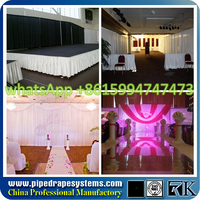 fire retardant wedding backdrop sheer voile panels, event draping, ceiling drapes