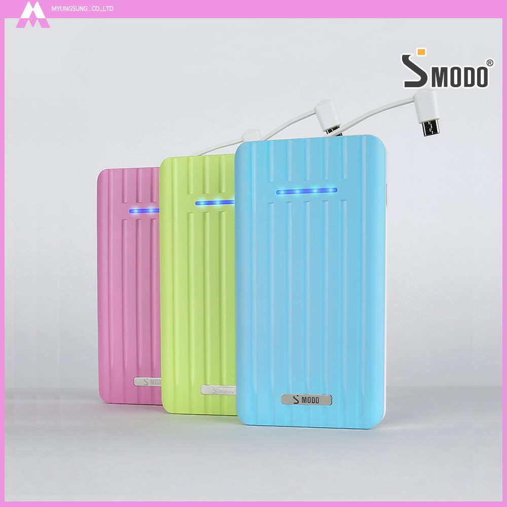 SMODO smart phone charger travel luggage 8000mAh best power bank