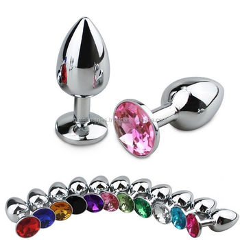 Anal Butt Toy anal Plug Anal Insert Stainless Steel Metal Plated Jeweled Sexy Stopper Anal sex plug Tools