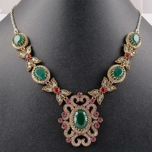 Victorian Design !! Multi Gems 925 Sterling Silver Necklace, Silver Jewellery, 925 Silver Jewelry