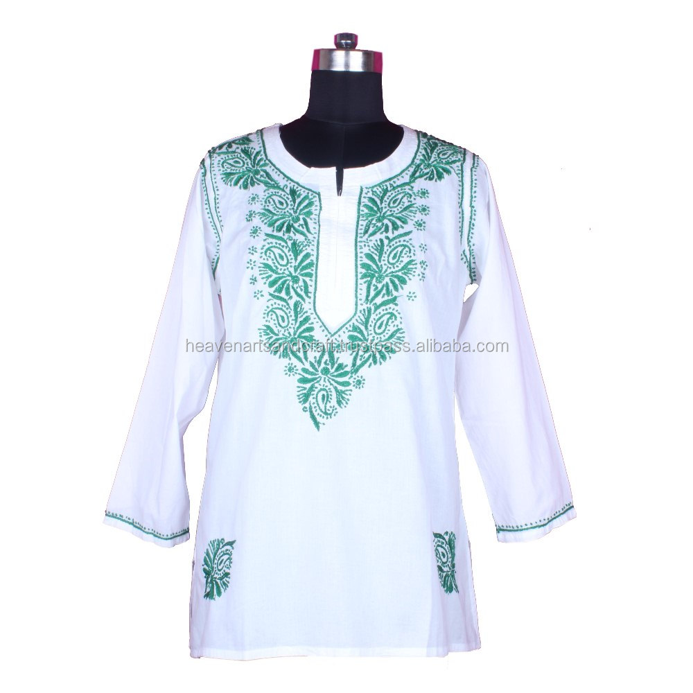 DR156 Stylish Lucknow Chicken Kurta / Tunics Size S, M, L, XL, XXL