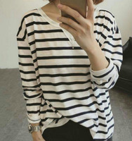 Stripe woman blouse
