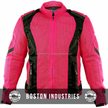 Custom Women's Black Hot Pink Mesh Tri-Tex Armored Motorcycle Jacket Racing Cordura Textile Jackets NO Customization Limit