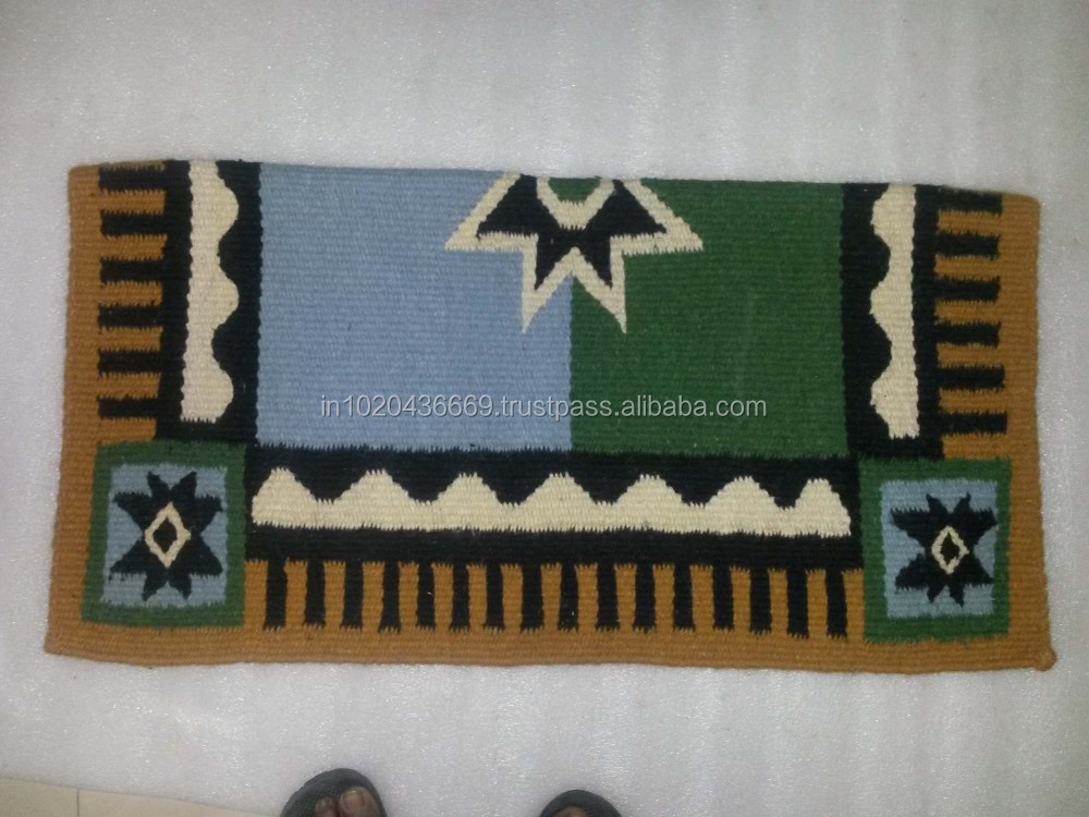 Newzeland Wool Western horse Saddle Blanket