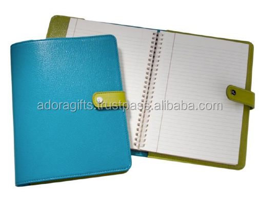 Embossed logo PU/ imitation leather A6 dairy cover