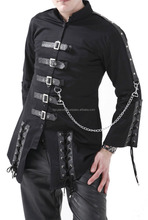BLACK CORSETING CHAINS GOTHIC EMO CYBER JACKET FC-2972