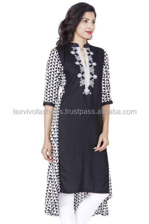 Rayon embroidery stylish Kurti