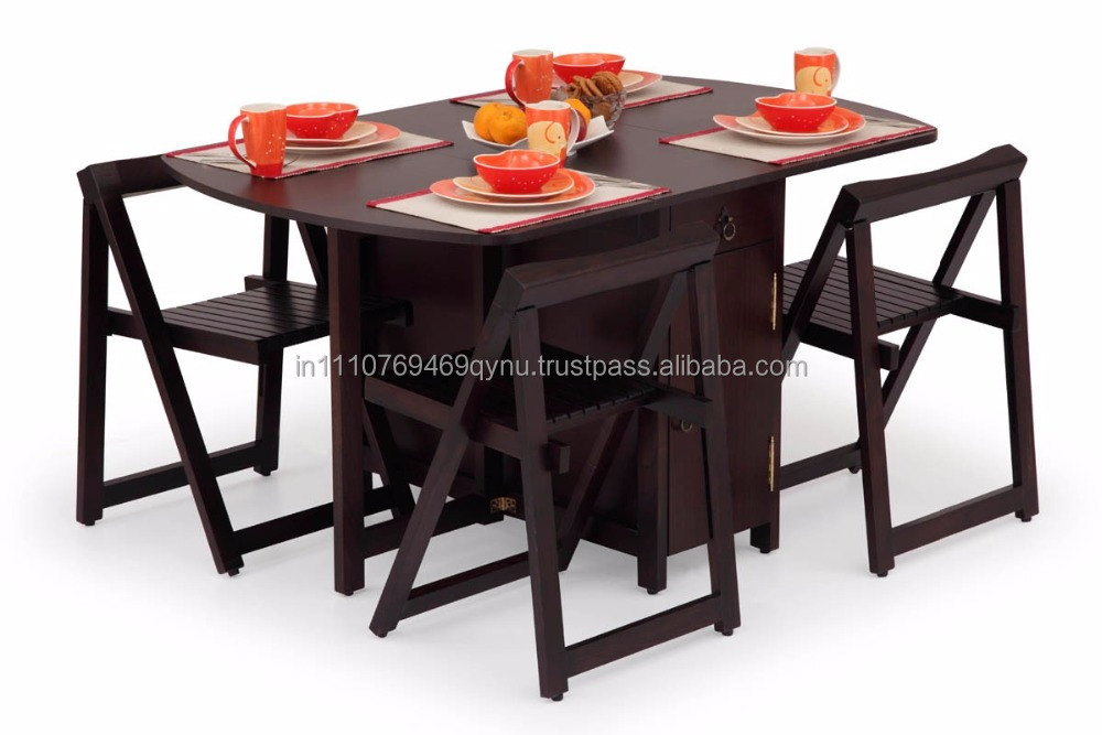 Ekbote Furniture Dining Room Folding Table And Chair Set Buy Wooden Dining Set Folding Dining Table Set Classical Dining Room Furniture Sets Product On