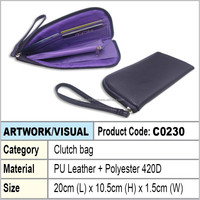 PU Ladies Clutch bag (purple)