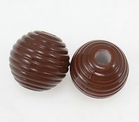 18x19mm deep coffee color Round Painted Acrylic Beads