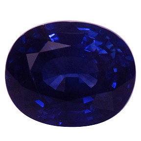 UNHEATED 2.92ct Oval-Cut NAtural Blue Sapphire