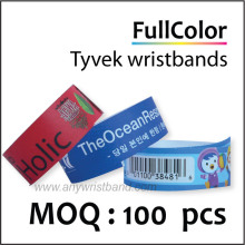 Custom full color Tyvek wristband