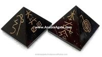 Black Jasper USAI reiki pyramid : Wholesale Reiki products